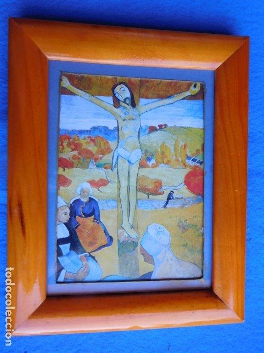 CRUCIFICADO. MARCO DE MADERA 19 X 245 CM (Arte - Láminas Antiguas)