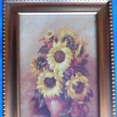 Arte: JARRÓN CON FLORES. MARCO DE MADERA 12 X 18 CM . Lote 172255948