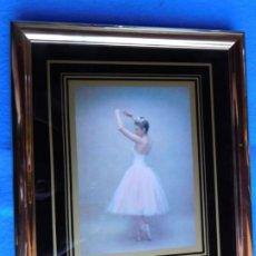 Arte: BALLET. MARCO DORADO DE MADERA 18 X 25 CM . Lote 172256523