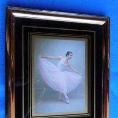Arte: BALLET. MARCO DORADO DE MADERA 18 X 25 CM . Lote 172256553
