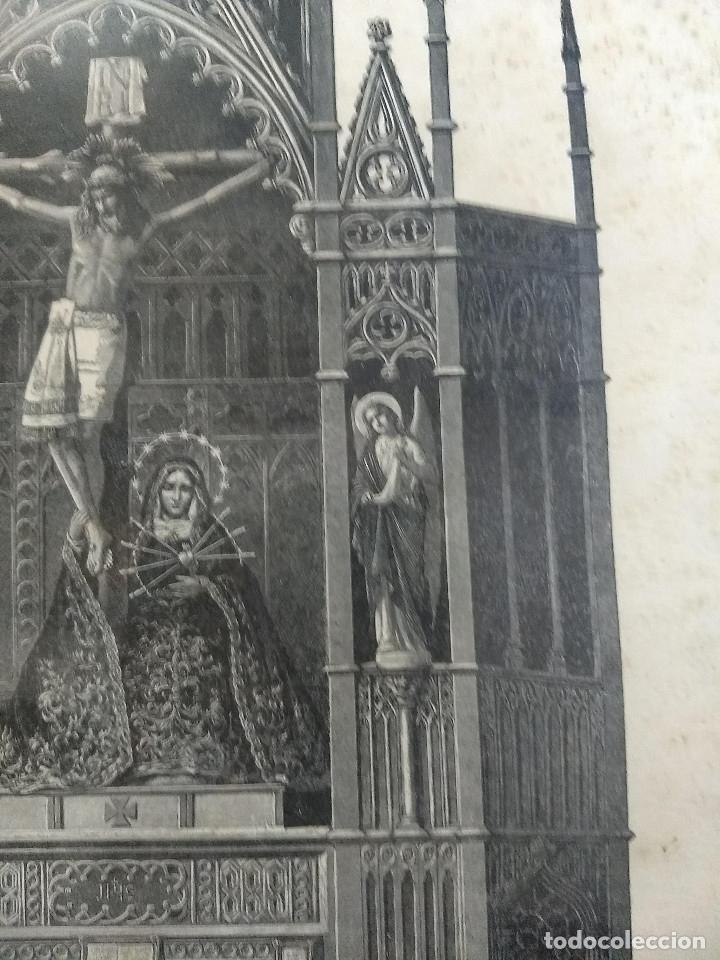 Arte: Antiguo marco de madera con ribetes dorados y lámina: Imagen del Sto. Cristo de la Galera - Foto 9 - 172717997
