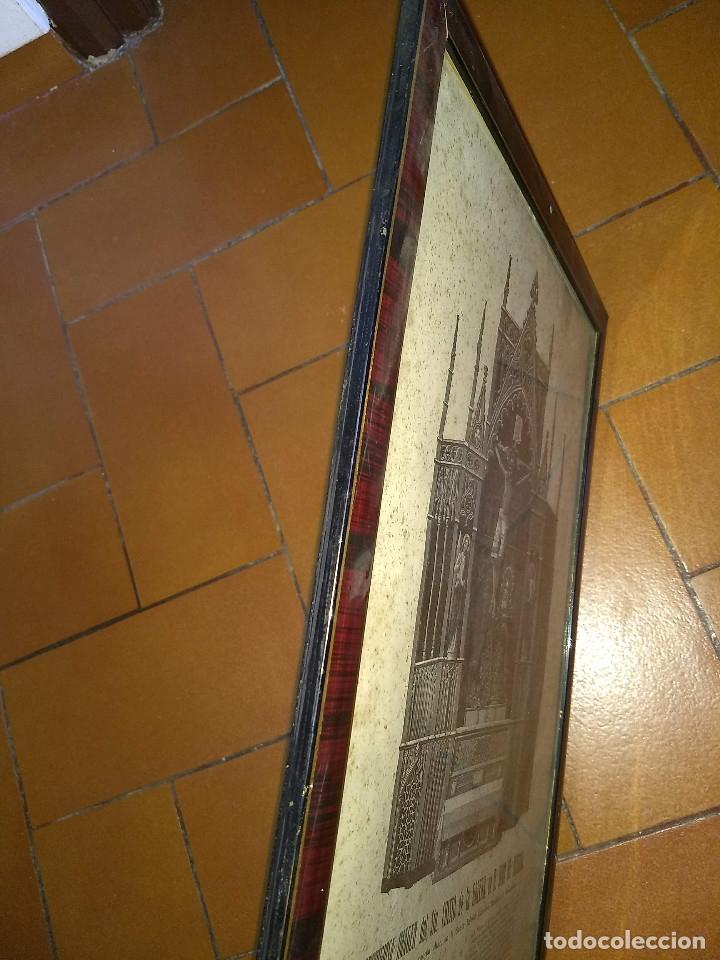 Arte: Antiguo marco de madera con ribetes dorados y lámina: Imagen del Sto. Cristo de la Galera - Foto 21 - 172717997