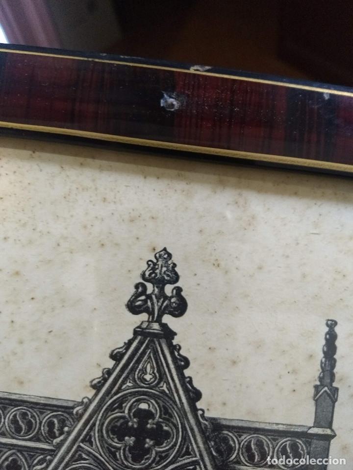 Arte: Antiguo marco de madera con ribetes dorados y lámina: Imagen del Sto. Cristo de la Galera - Foto 24 - 172717997