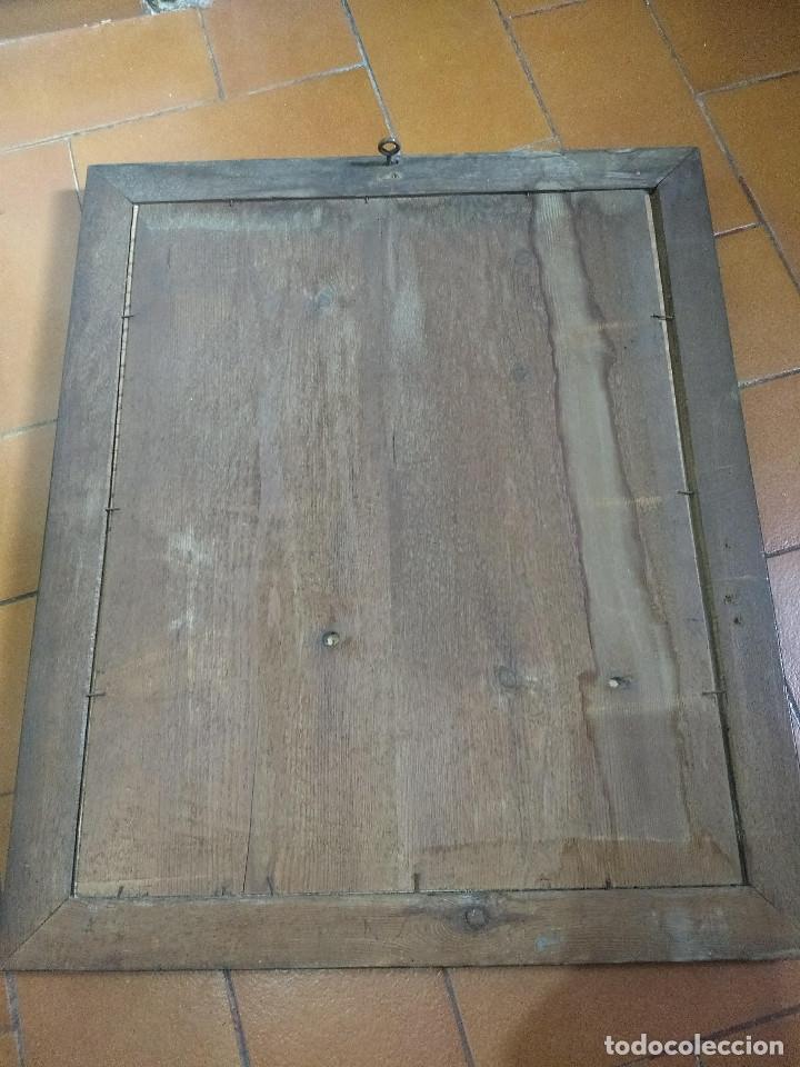 Arte: Pareja de marcos de madera antiguos con bonitas láminas San José con el Niño y La Inmaculada - Foto 12 - 172790103