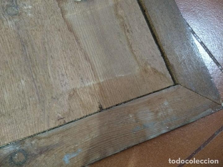 Arte: Pareja de marcos de madera antiguos con bonitas láminas San José con el Niño y La Inmaculada - Foto 13 - 172790103