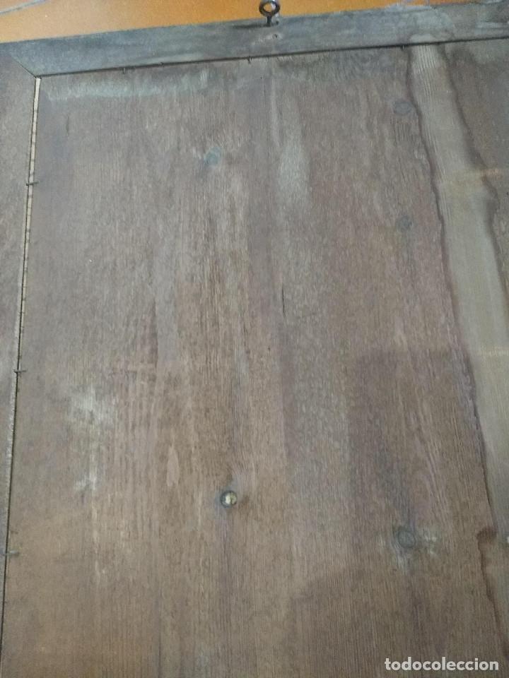 Arte: Pareja de marcos de madera antiguos con bonitas láminas San José con el Niño y La Inmaculada - Foto 15 - 172790103