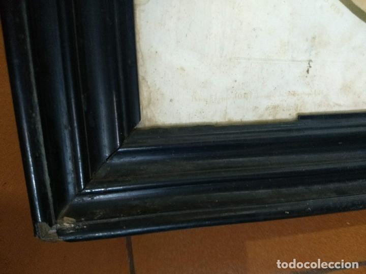 Arte: Pareja de marcos de madera antiguos con bonitas láminas San José con el Niño y La Inmaculada - Foto 34 - 172790103
