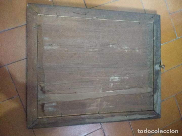 Arte: Pareja de marcos de madera antiguos con bonitas láminas San José con el Niño y La Inmaculada - Foto 35 - 172790103