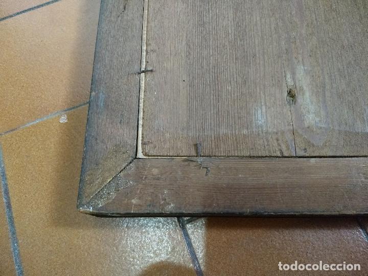 Arte: Pareja de marcos de madera antiguos con bonitas láminas San José con el Niño y La Inmaculada - Foto 38 - 172790103