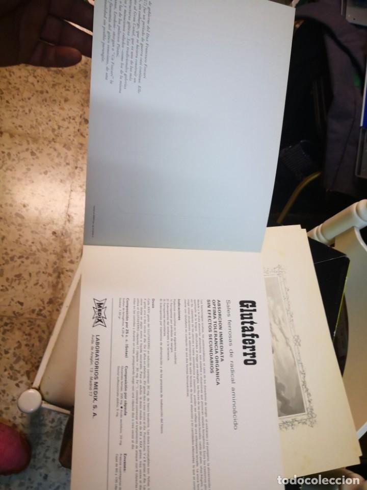 Arte: Dosier con Lamina o grabado por publicidad de medicina laboratorio medix s. A. Madrid - Foto 2 - 172912224