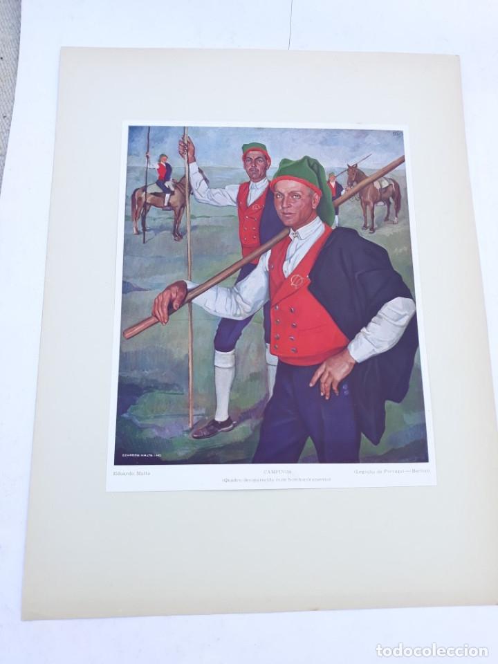 LAMINA 2 HOMBRES (Arte - Láminas Antiguas)