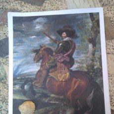 Arte: LÁMINA DE CONDE DUQUE DE OLIVARES. VELÁZQUEZ. EL MUNDO. Lote 173984289
