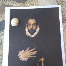 Arte: LÁMINA DE EL CABALLERO DE LA MANO EN EL PECHO. EL GRECO. Lote 173984458