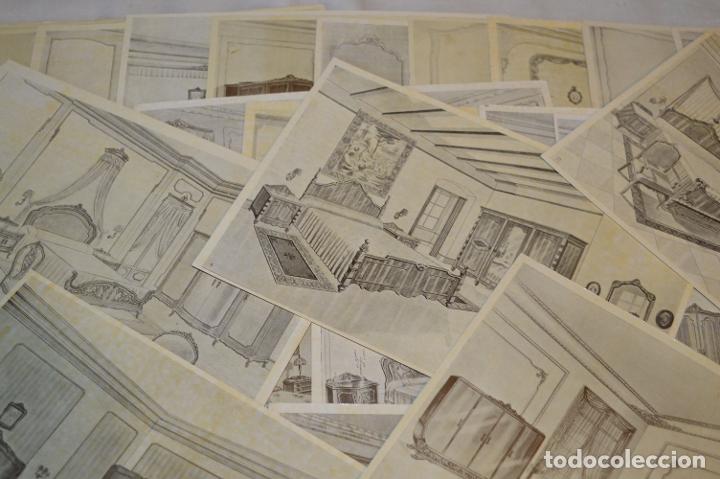 Arte: 40 LÁMINAS VARIADAS - EXQUISITAS y ANTIGUAS DE MUEBLES dormitorios CLÁSICOS y antiguos ¡Mira! - Foto 3 - 173988404