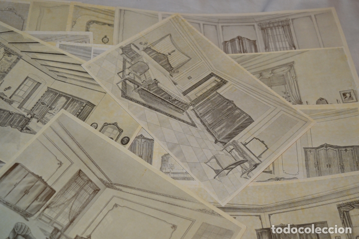 Arte: 40 LÁMINAS VARIADAS - EXQUISITAS y ANTIGUAS DE MUEBLES dormitorios CLÁSICOS y antiguos ¡Mira! - Foto 4 - 173988404