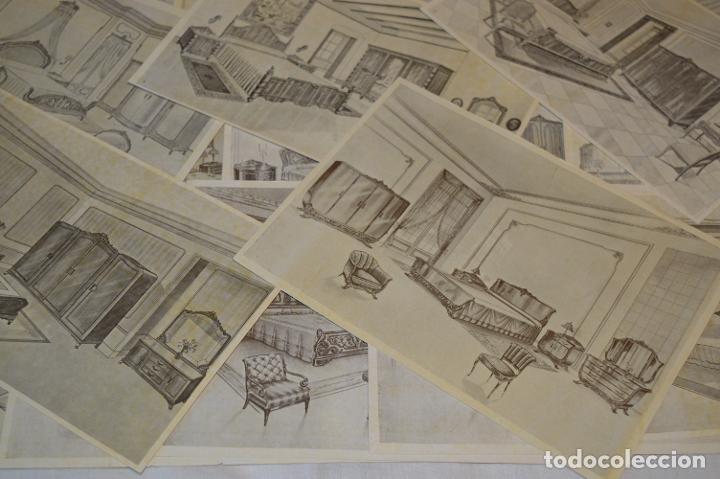 Arte: 40 LÁMINAS VARIADAS - EXQUISITAS y ANTIGUAS DE MUEBLES dormitorios CLÁSICOS y antiguos ¡Mira! - Foto 6 - 173988404
