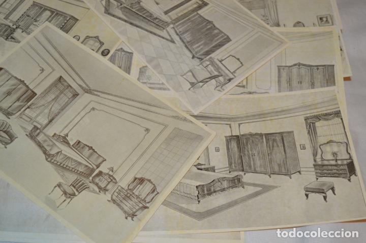 Arte: 40 LÁMINAS VARIADAS - EXQUISITAS y ANTIGUAS DE MUEBLES dormitorios CLÁSICOS y antiguos ¡Mira! - Foto 7 - 173988404