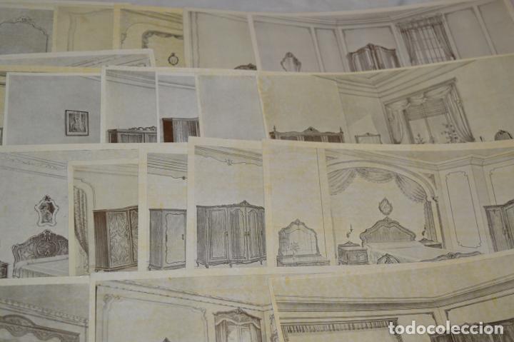 Arte: 40 LÁMINAS VARIADAS - EXQUISITAS y ANTIGUAS DE MUEBLES dormitorios CLÁSICOS y antiguos ¡Mira! - Foto 10 - 173988404