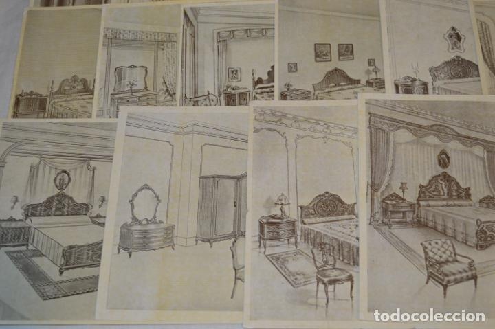 Arte: 40 LÁMINAS VARIADAS - EXQUISITAS y ANTIGUAS DE MUEBLES dormitorios CLÁSICOS y antiguos ¡Mira! - Foto 11 - 173988404