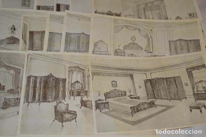 Arte: 40 LÁMINAS VARIADAS - EXQUISITAS y ANTIGUAS DE MUEBLES dormitorios CLÁSICOS y antiguos ¡Mira! - Foto 12 - 173988404