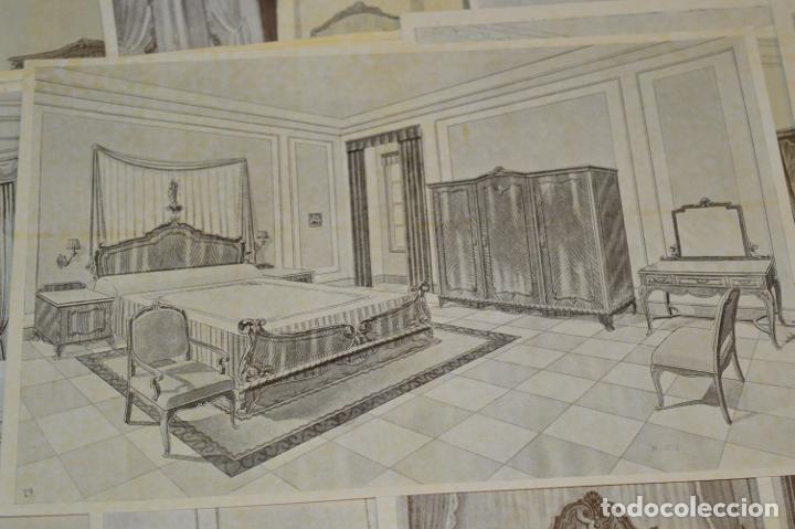 Arte: 40 LÁMINAS VARIADAS - EXQUISITAS y ANTIGUAS DE MUEBLES dormitorios CLÁSICOS y antiguos ¡Mira! - Foto 13 - 173988404