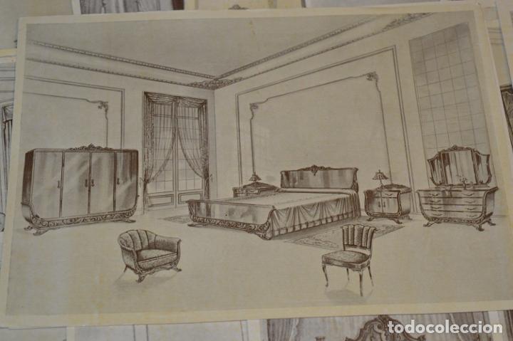 Arte: 40 LÁMINAS VARIADAS - EXQUISITAS y ANTIGUAS DE MUEBLES dormitorios CLÁSICOS y antiguos ¡Mira! - Foto 14 - 173988404