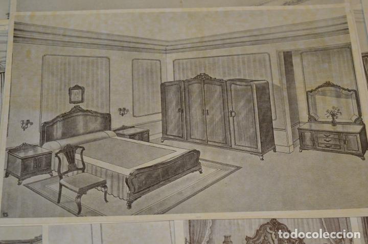 Arte: 40 LÁMINAS VARIADAS - EXQUISITAS y ANTIGUAS DE MUEBLES dormitorios CLÁSICOS y antiguos ¡Mira! - Foto 15 - 173988404