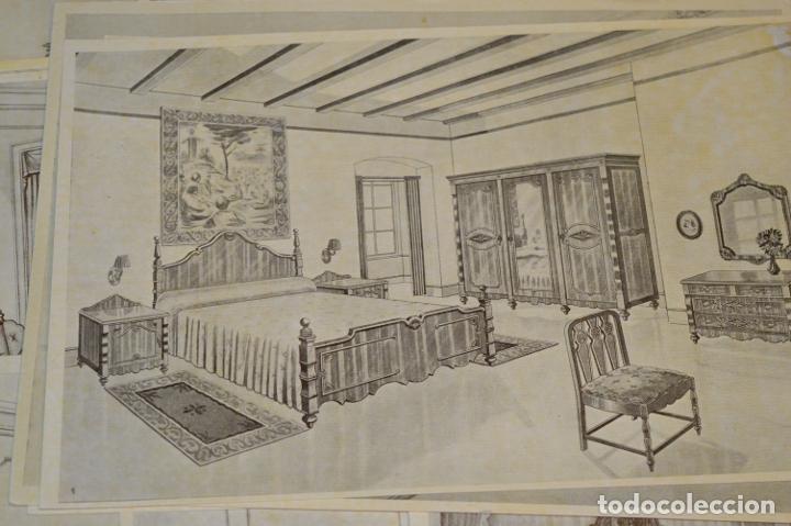 Arte: 40 LÁMINAS VARIADAS - EXQUISITAS y ANTIGUAS DE MUEBLES dormitorios CLÁSICOS y antiguos ¡Mira! - Foto 16 - 173988404