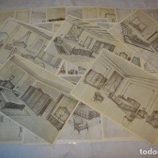 Arte: 40 LÁMINAS VARIADAS - EXQUISITAS Y ANTIGUAS DE MUEBLES DORMITORIOS CLÁSICOS Y ANTIGUOS ¡MIRA!. Lote 173988404