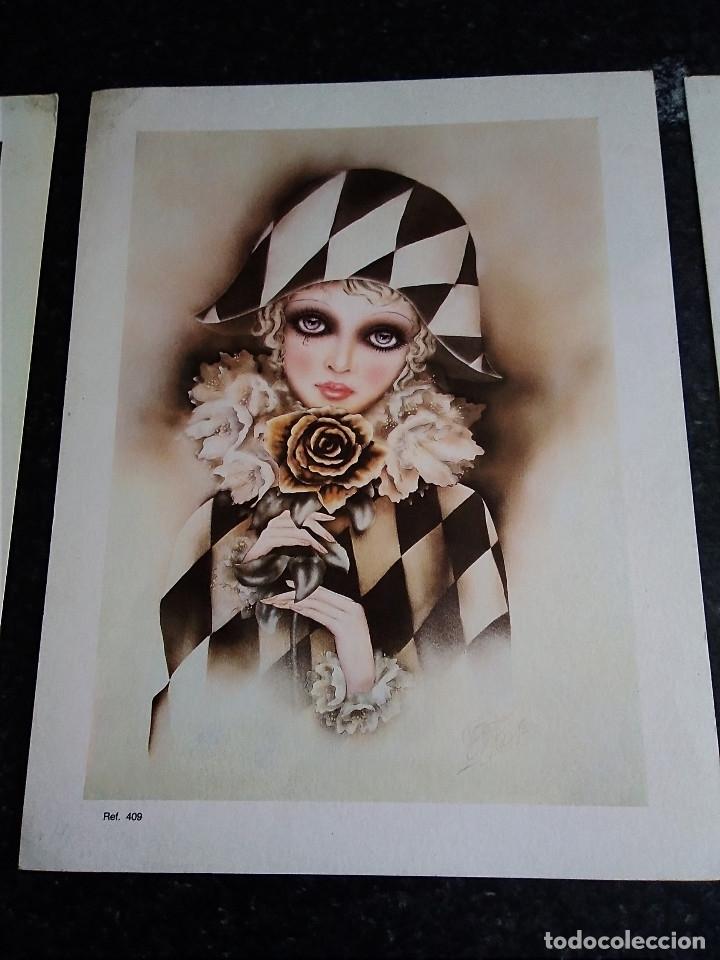 Arte: 15-TRES LAMINAS ARLEQUIN - Foto 3 - 174104704