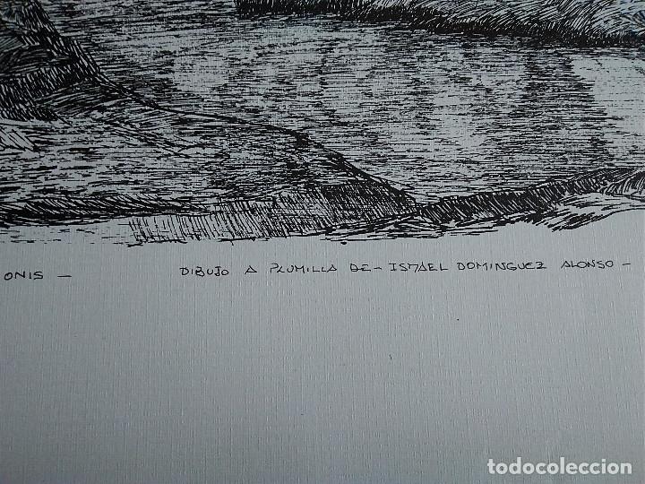 Arte: 8-LAMINA RIO SELLA Y PUENTE ROMANO, CANGAS DE ONIS, ASTURIAS. 48 X 35 - Foto 3 - 174104902