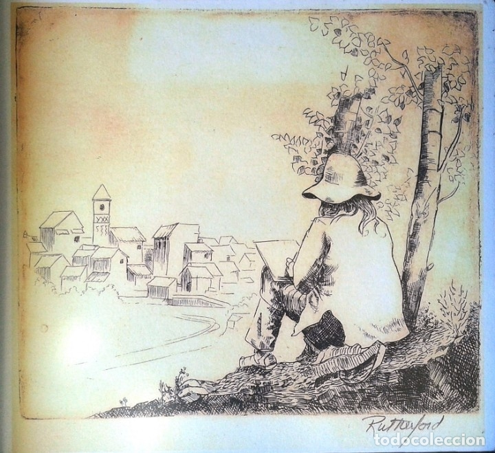 JACK RUTHERFORD (CALIFORNIA, 1.931) - LAMINA PAPEL ACUARELA 42 X 30 (Arte - Láminas Antiguas)
