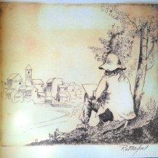 Arte: JACK RUTHERFORD (CALIFORNIA, 1.931) - LAMINA PAPEL ACUARELA 42 X 30. Lote 174249092