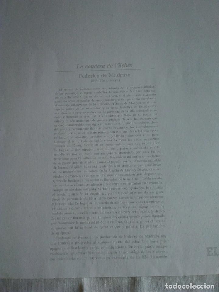 Arte: 42-LAMINA RETRATO LA CONDESA DE VILCHES, ORIGINAL FEDERICO DE MADRAZO, 43 X 24 CM - Foto 2 - 174382429