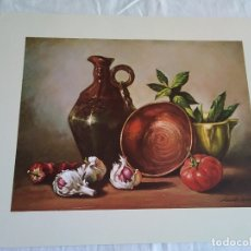 Arte: 32-LAMINA BODEGON, ASTRO Nº 58, 1984, 30 X 24 CM. Lote 174439465