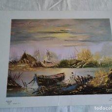 Arte: 25-LAMINA PAISAJE, SERIE ELI Nº 7, 1979, 32 X 22,5 CM. Lote 174439702