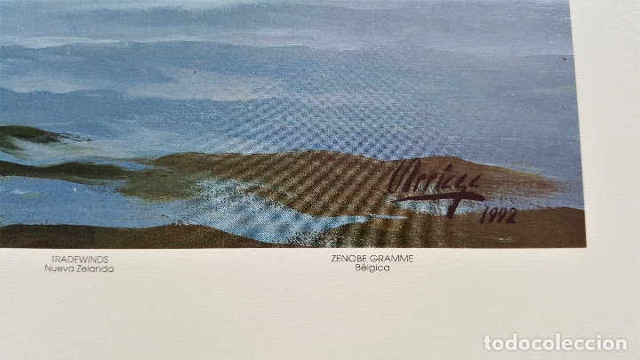 Arte: ESTEBAN ARRIAGA GRAN REGATA COLON 92 - LAMINA DE 69X51.CM APROX - Foto 3 - 174963709