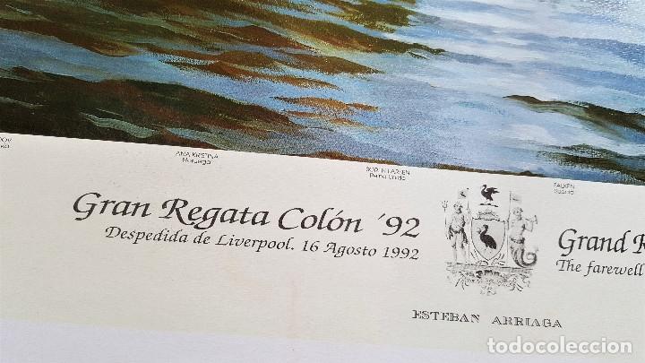 Arte: ESTEBAN ARRIAGA GRAN REGATA COLON 92 - LAMINA DE 69X51.CM APROX - Foto 5 - 174963709