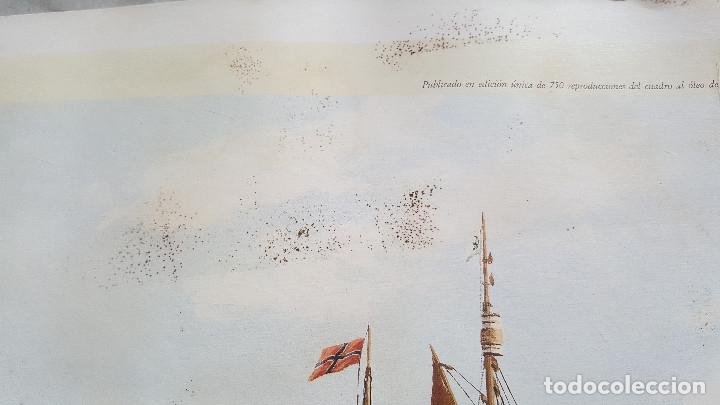 Arte: ESTEBAN ARRIAGA GRAN REGATA COLON 92 - LAMINA DE 69X51.CM APROX - Foto 10 - 174963709