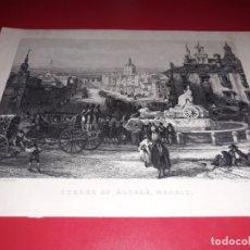 Arte: LAMINA DE CALLE DE ALCALÁ MADRID DEL DIBUJANTE DAVID ROBERTS. Lote 175442609