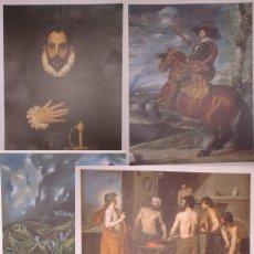 Arte: LOTE DE 6 LÁMINAS DE VELÁZQUEZ, EL GRECO Y MURILLO. DISTRIBUIDAS POR EL PERIÓDICO EL MUNDO. Lote 175556102