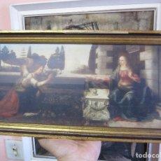 Arte: ANTIGUO CUADRO LAMINA CON CRISTAL ENMARCADO MARCO DORADO-KUNSTHANDEL JEAN PERRY DEN HAAG. Lote 175700373