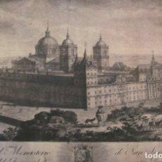 Arte: VISTA DEL REAL MONASTERIO DEL ESCORIAL. Lote 176061550