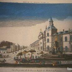 Arte: VISTA DE LA PRISION REAL EN MADRID. . Lote 176062329
