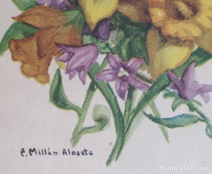 Arte: 3 laminas impresas antiguas plantas - Foto 3 - 176222760