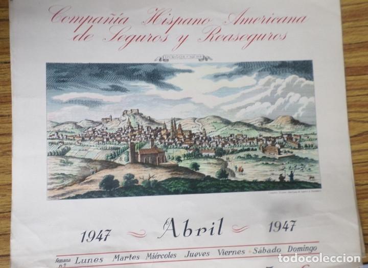 Arte: 12 láminas impresas coloreadas - Paisajes de España siglo XVII – XVIII - Sacadas calendario 1947 - Foto 5 - 176222959