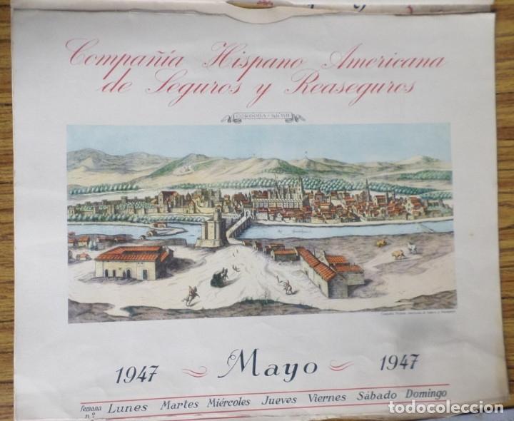 Arte: 12 láminas impresas coloreadas - Paisajes de España siglo XVII – XVIII - Sacadas calendario 1947 - Foto 7 - 176222959