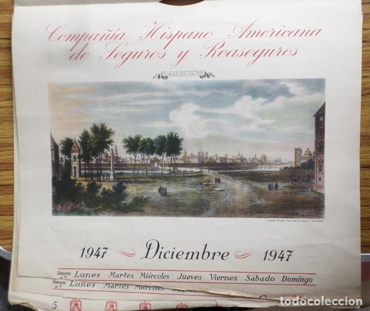 Arte: 12 láminas impresas coloreadas - Paisajes de España siglo XVII – XVIII - Sacadas calendario 1947 - Foto 10 - 176222959