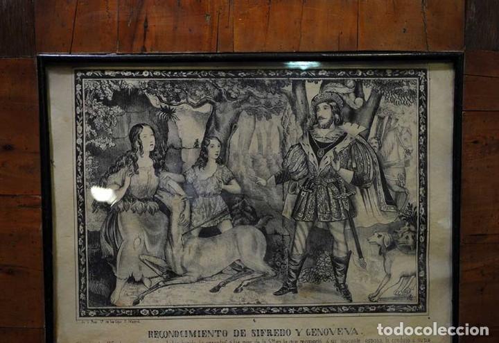 Arte: LÁMINA ANTIGUA RELIGIOSA CON MARCO DE MADERA - Foto 2 - 176719819