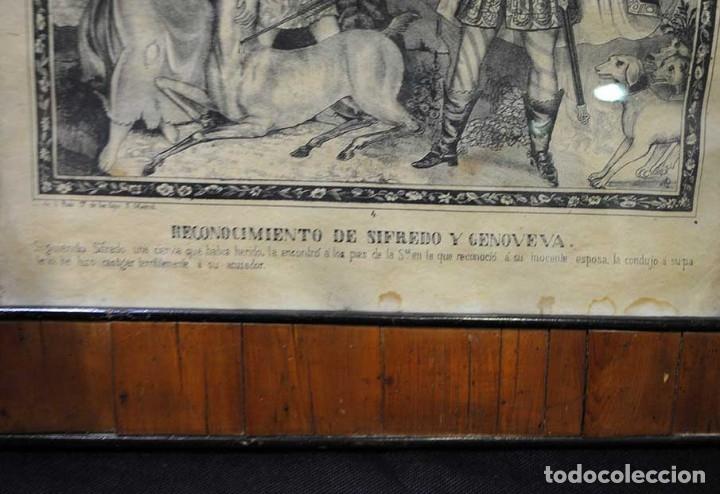 Arte: LÁMINA ANTIGUA RELIGIOSA CON MARCO DE MADERA - Foto 3 - 176719819
